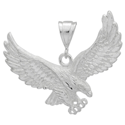DCP1082 Silver DC Eagle Pendant 60mm