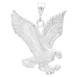 DCP1084 Silver DC Eagle Pendant 68mm