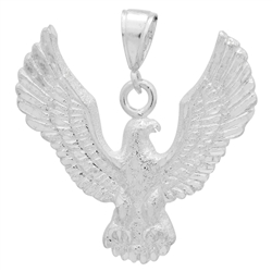 DCP1085 Silver DC Eagle Pendant 45mm