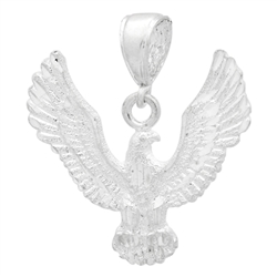 DCP1086 Silver DC Eagle Pendant 35mm