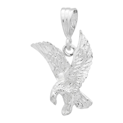 DCP1087 Silver DC Eagle Pendant 24mm