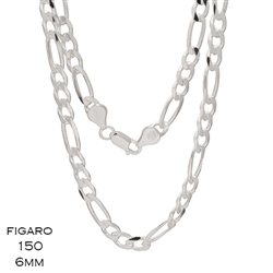 Figaro 150 6.0mm Gauge Chain Necklace