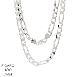 Figaro 180 7.0mm Gauge Chain Necklace