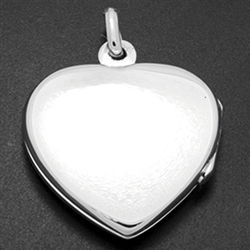 LPS1006 - Silver Heart Plain Locket
