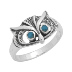 M-R1011-BT Silver Blue Turquoise Ring