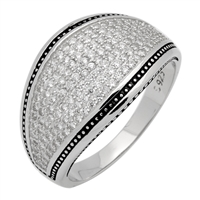 MMCR1010 SILVER MICROPAVE 15MM EYE CONCEPT CZ MENS RING