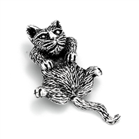 PHP1003 - Silver Movable Cat Pendant 26mm