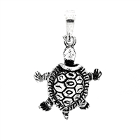PHP1007 - Silver Movable Turtle Pendant 22mm