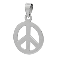 PHP1021 - Silver Peace Sign Pendant 24mm