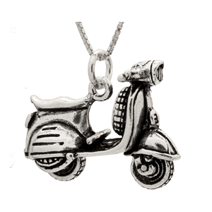PHP1029 - Sterling Silver Movable Scooter Pendant