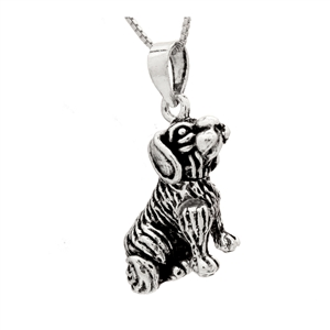 PHP1030 - Sterling Silver Movable Dog Pendant