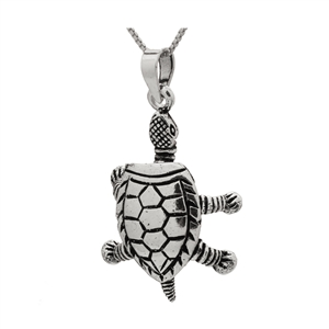 PHP1031 - Sterling Silver Movable Turtle Pendant