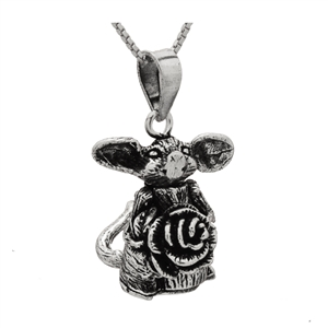 PHP1032- Sterling Silver Movable Possum with Flower Pendant