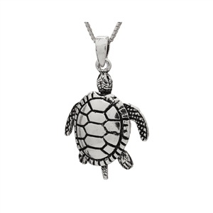 PHP1039- Sterling Silver Movable Sea Turtle Pendant