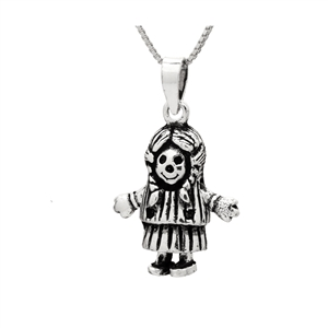 PHP1040- Sterling Silver Movable Anabel Doll Pendant
