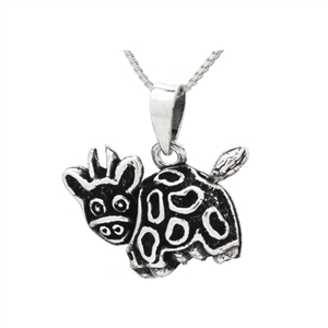 PHP1043- Sterling Silver Movable Cow Pendant