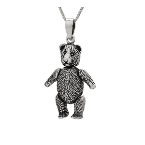 PHP1045- Sterling Silver Movable Bear Pendant