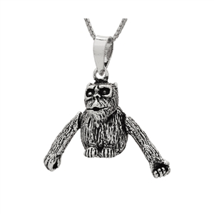 PHP1047- Sterling Silver Movable Monkey Pendant Small Version