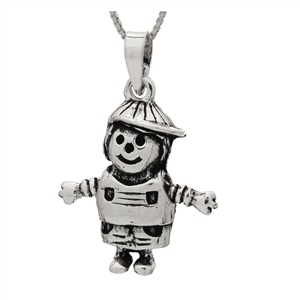 PHP1048- Sterling Silver Movable Boy with Hat Pendant