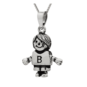 PHP1049- Sterling Silver Movable Boy Pendant