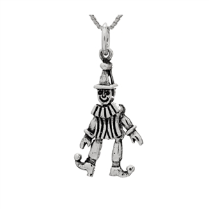 PHP1054- Sterling Silver Movable Circus Clown Pendant