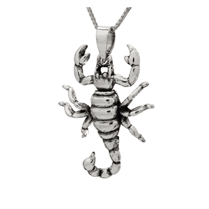 PHP1056- Sterling Silver Movable Scorpion Pendant