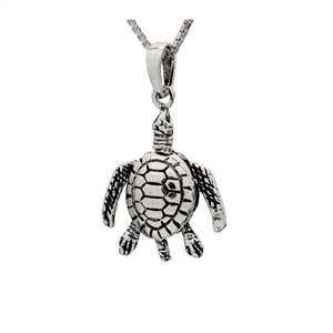 PHP1063- Sterling Silver Movable Sea Turtle Pendant