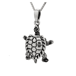 PHP1064- Sterling Silver Movable Sea Turtle Pendant