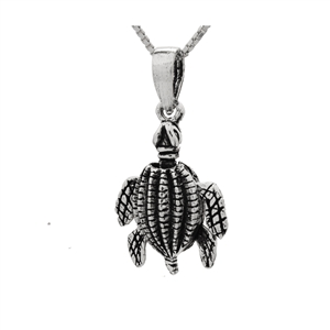 PHP1065- Sterling Silver Movable Sea Turtle Pendant