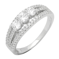 Silver CZ Ring - Clear