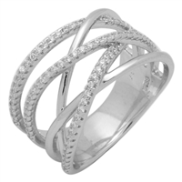 Silver CZ Ring