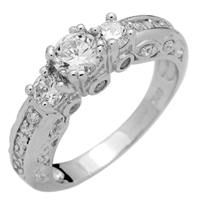 RCZ104041 - Sterling Silver CZ Solitaire Ring
