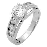 RCZ104045 - Sterling Silver Solitaire Ring 6.5mm