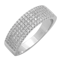 RCZ104051- Sterling Silver 5 Layers Micro Pave CZ Band Ring