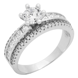 RCZ104090 - Sterling Silver CZ Ladies Ring