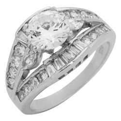 RCZ104093 - Sterling Silver CZ Ladies Ring