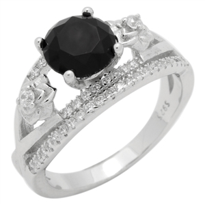 RCZ104152-BK - Sterling Silver Micropave CZ Ring