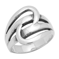 RPS1008 Silver Plain Design Ring