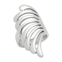 RPS1020 Silver Plain Long Ring