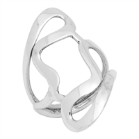 RPS1022 Silver Plain Long Design Ring