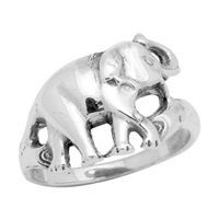RPS1026 Silver Plain Elephant Ring