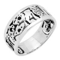 RPS1054 Silver Plain Lucky Ring