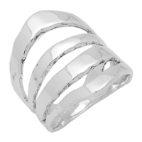 RPS1061 Silver Plain MultiBand Ring