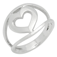 RPS1062 Silver Plain MultiBand Ring