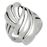 RPS1063 Silver Plain Freeform Ring