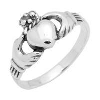 RPS1088 Silver Claddagh Ring