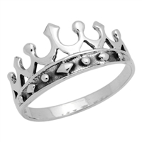RPS1093 Silver Crown Ring