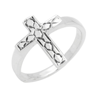 RPS1096 Silver Cross Ring