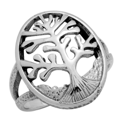 RPS1105 - Sterling Silver Filigree Tree of Life Ring