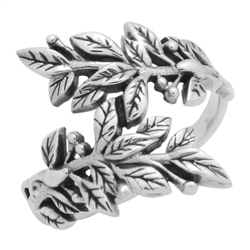 RPS1120 - Sterling Silver Vines Wrap Ring
